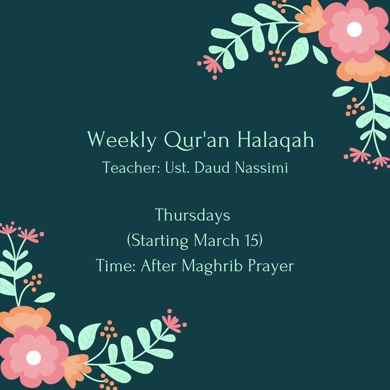 Weekly Qur'an Halaqah